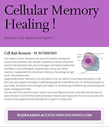 Cellular Healing &Trauma Release!