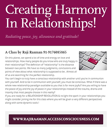 Creating Harmony In Relationships