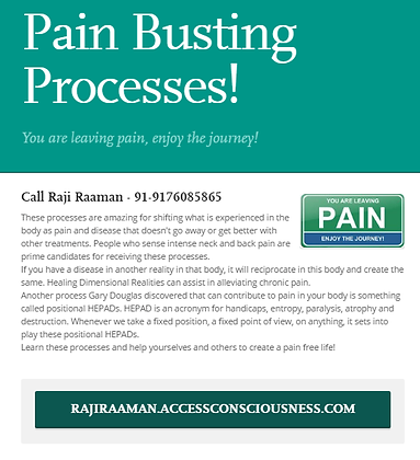 Pain Busting Processes!