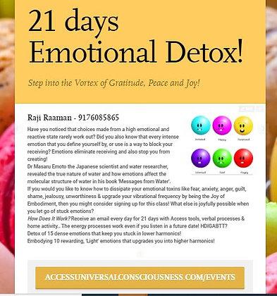 21 days of emotional detox to embody Joy & Peace!