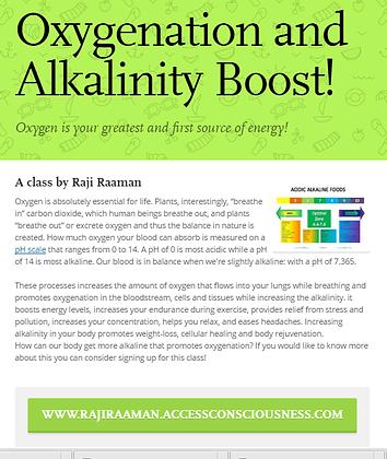 Oxygenation Alkalinity Boost!