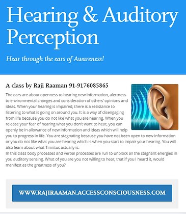 Hearing & Auditory Perception