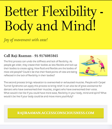 Better Flexibility - Body and Mind!
