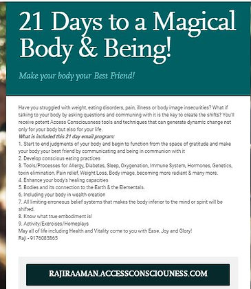 21 days to a Magical Body & Magical Being!
