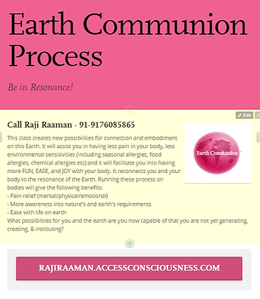 Earth Communion