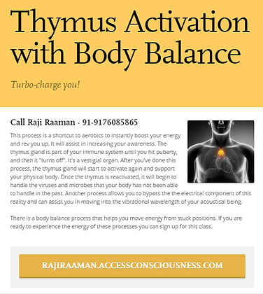 Thymus Activation with Body Balance