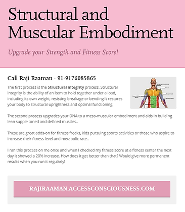 Structural and Muscular Embodiment!