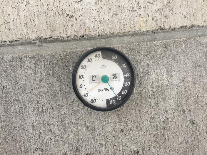 日中でも-9℃