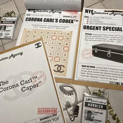 """""""The Corona Carl™ Caper"""" Escape Room Party"""
