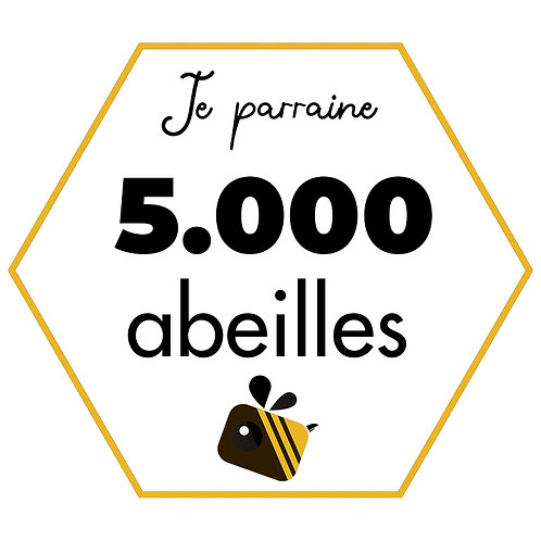 5.000 abeilles (3 pots de miel) - Paiement unique