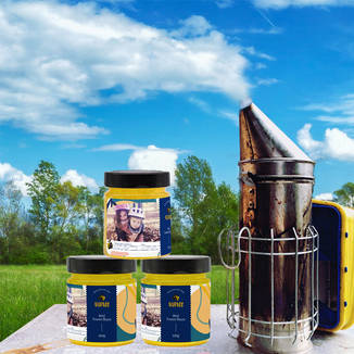 Votre miel en pots personnalisés