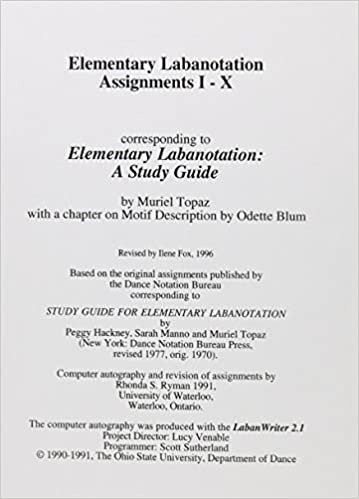 Elementary Labanotation Assignments
