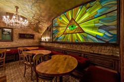Витраж и роспись потолка
