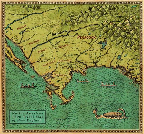 Native Village Map 1600