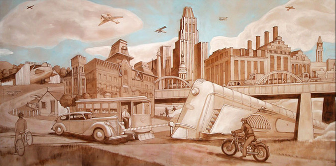 Transportaion Mural