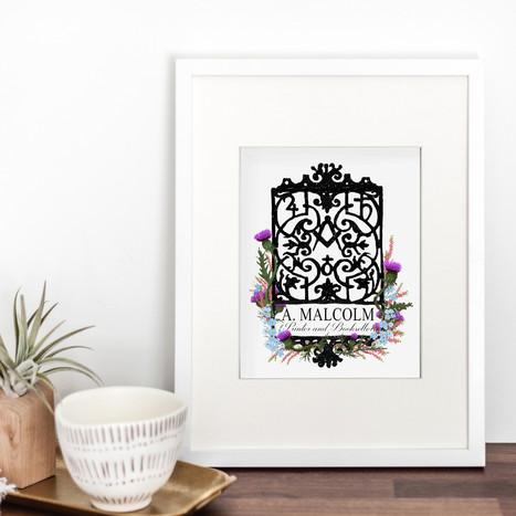 A. Malcolm Shop Sign