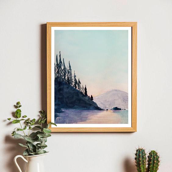 Day Lake, framed.jpg