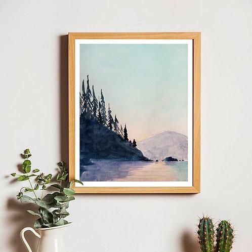 Lake Day | Original Watercolor | 5x7