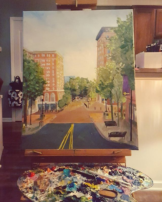 A painting a day keeps the boredom away.  Almost finished