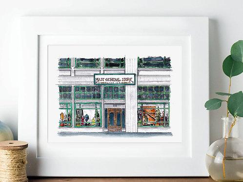 Mast General Store | Original Watercolor | 5x7