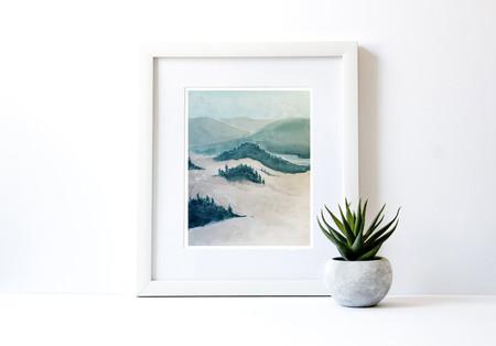 Fog and Mountains, Framed.jpg
