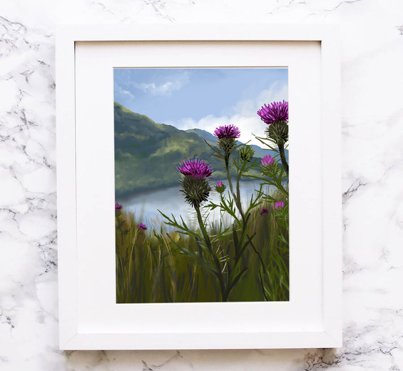Thistles on the Loch