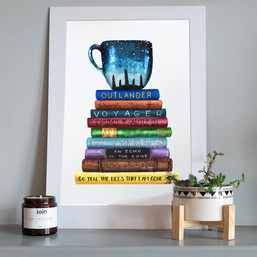 outlander books, framed.jpg