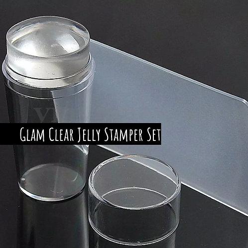 Glam Clear Jelly Stamper + Scraper Set