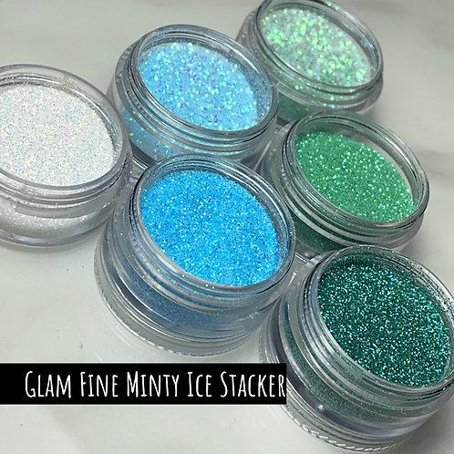 Glam Glitter - Fine Minty Ice Stacker