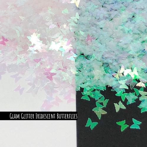 Glam Glitter - Shapes - Iridescent Butterflies (Pink/Teal)