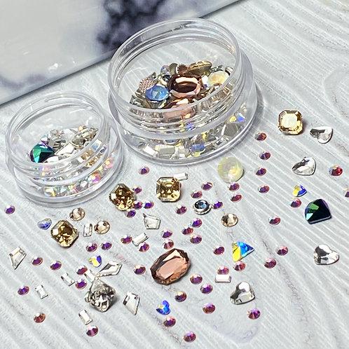Glam Genuine Swarovski Crystals: Vintage & Modern Mix