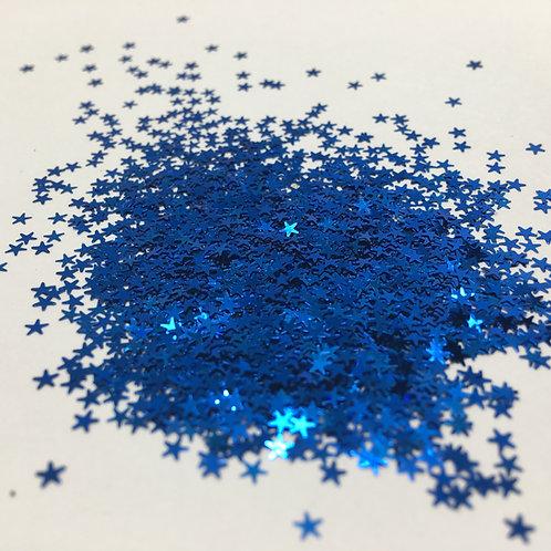 Glam Glitter-Deep Royal Blue 2.5mm Star
