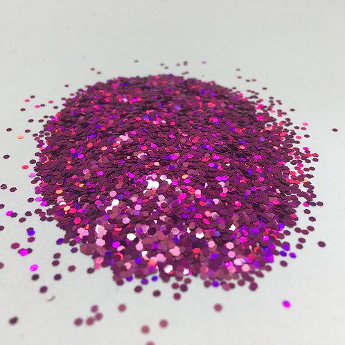 Glam Glitter- Fierce Fuchsia 1/24 Hex
