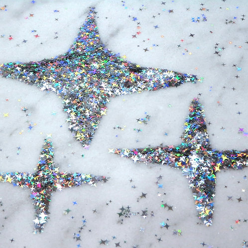 Glam Glitter - Shapes - Multi Size Stars