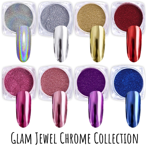 Glam Jewel Chrome Collection | 8Pcs Set |