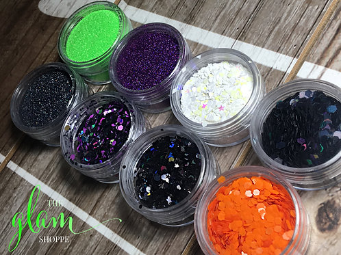 GLAM GLITTER 🌚🐸🕷🕸💚🖤 Halloween 2018 Limited Edition Mix Set