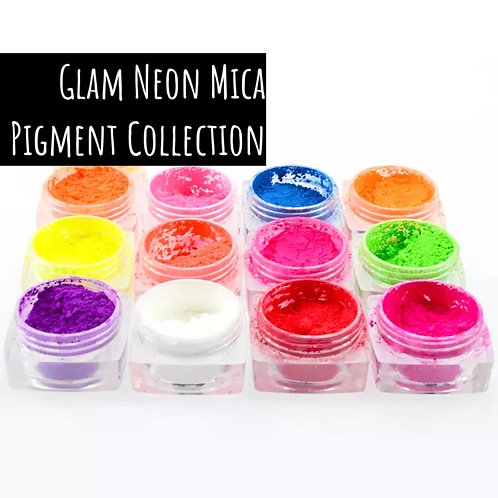 Glam Neon Mica Pigment Collection (12 Color Set)