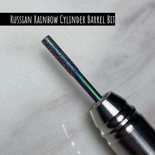 Glam Rainbow Coated Russian Diamond Bits - Russian Rainbow Cylinder Bit