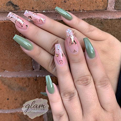 Glam Nail Decals - Large Size LV Inspired Nail Decal Sheet 4 x 4