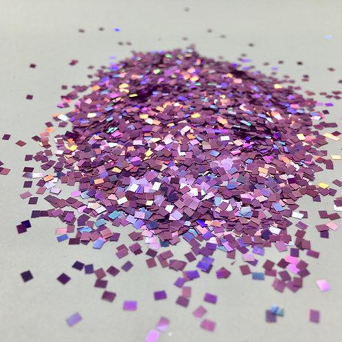 Glam Glitter- Pinkish 2mm Square