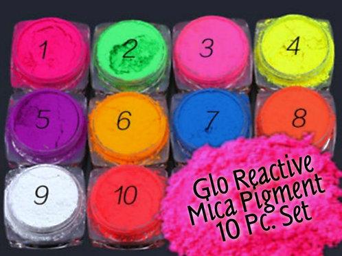 Glam Neon UV Glo Pure Pigment Set in Case