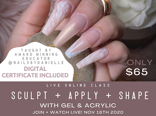 Online Glam Education Academy - Sculpt + Apply + Shape! Live Online!