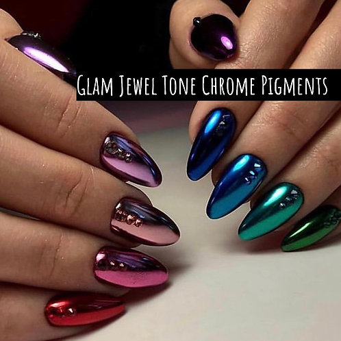 Glam Jewel Tone Chrome Pigment Collection