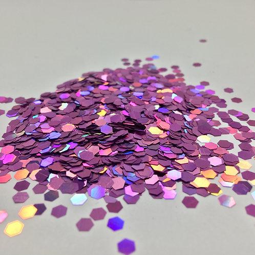 Glam Glitter- Pinkish 1/8 Hex
