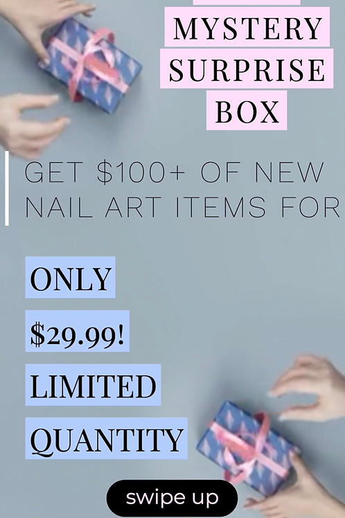 Glam Mystery Surprise Box : Nail Art Bundle