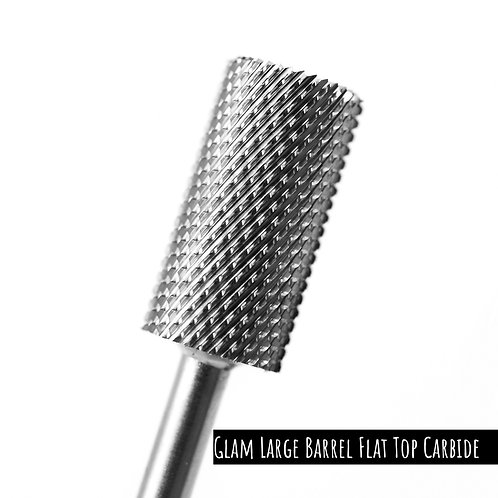 Glam Nail Bits - Glam Classic Large Barrel Flat Top Carbide (Fine or Medium)