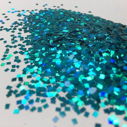 Glam Glitter-Paradise Teal 2mm Squares