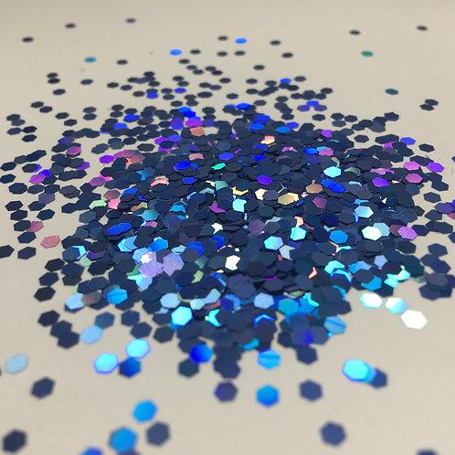 Glam Glitter- Deep Cyan 1/12 Hex