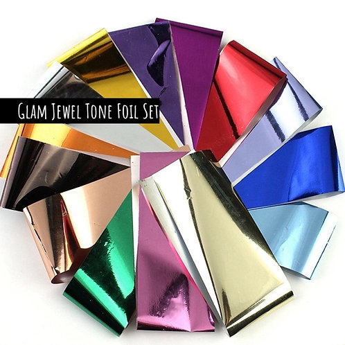Glam Jewel Tone Trasfer Foil Set (14pc)