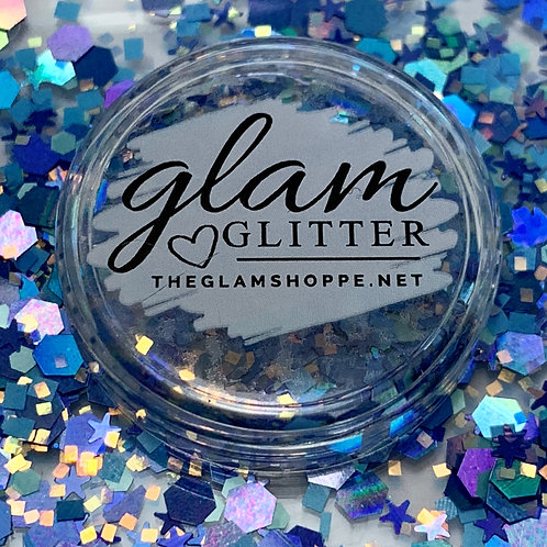 Glam Glitter - Mix - Blissful Blue